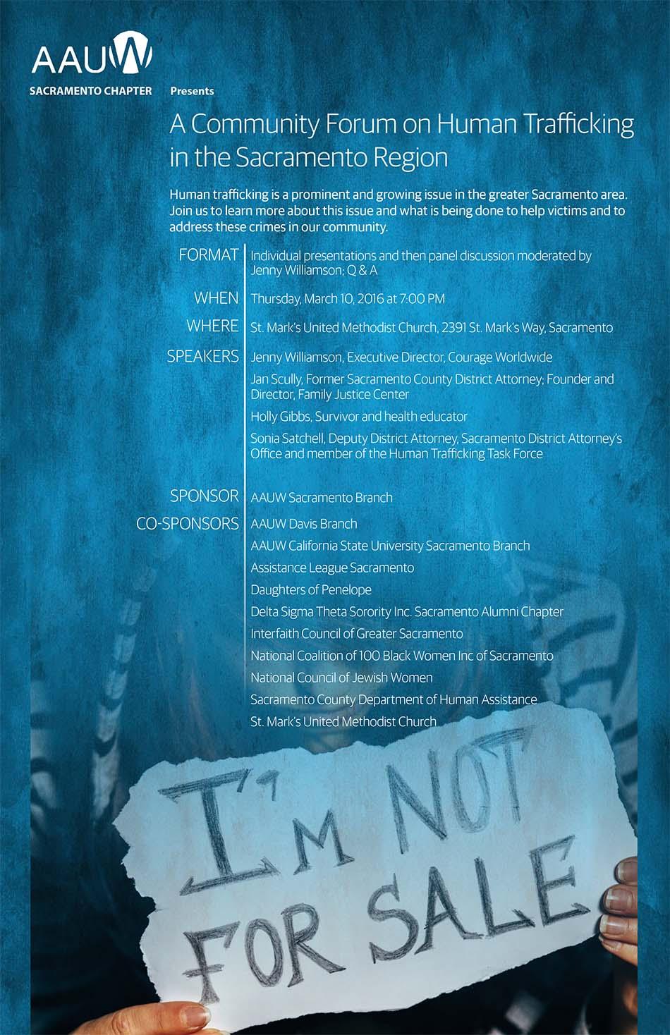 A Community Forum on Human Trafficking in the Sacramento Region